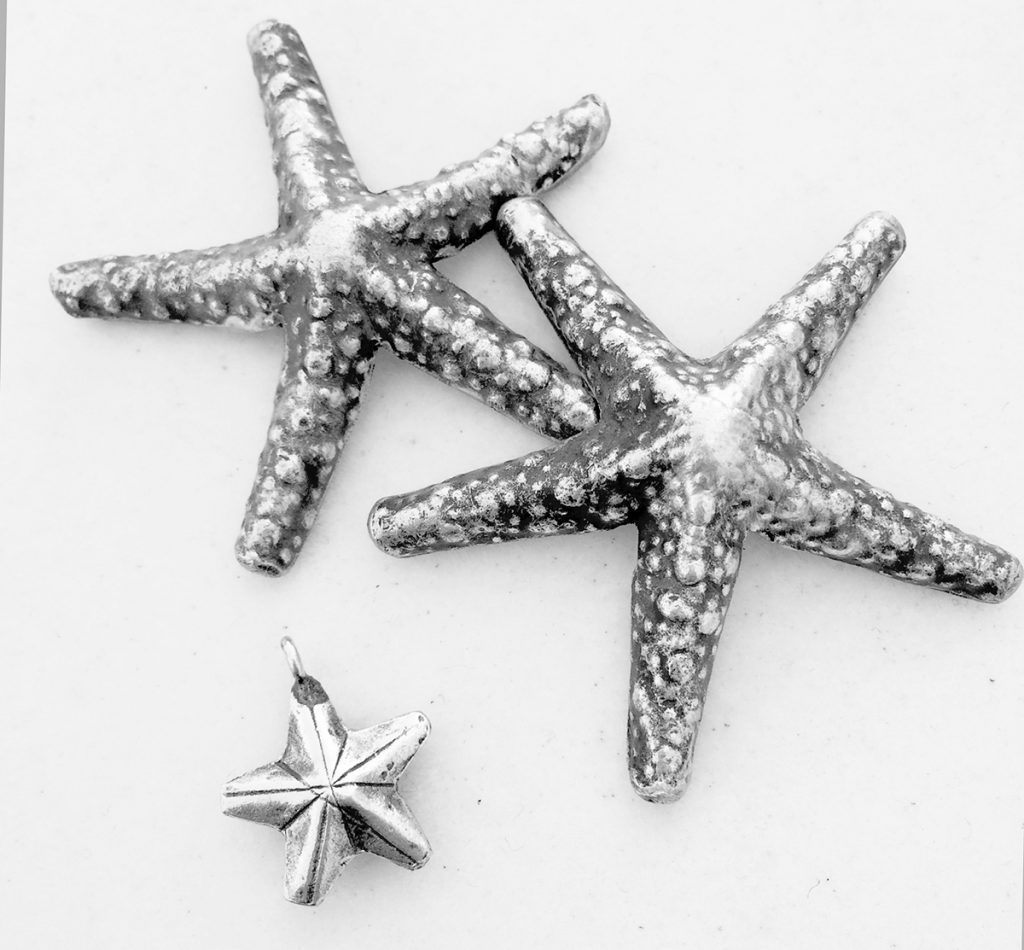 Hill Tribes silver starfish pendant and charms