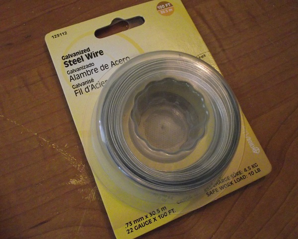 steel wire from the hardware store