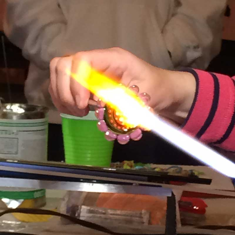 how to make enamel jewelry with a torch and other glass