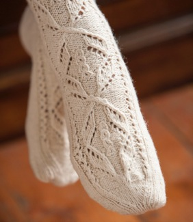 Lace knitting : Knit stockings