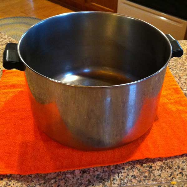 stock pot for making Merle's famous eggnog