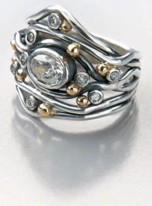 Learn how to fuse silver wire to make a stone-mounted ring in this free jewelry tutorial.