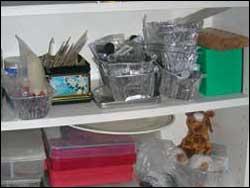 foil tray storage