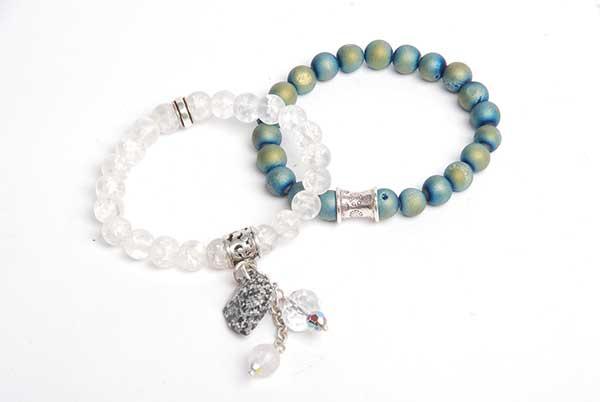stretchy bracelets made by Tammy Honaman