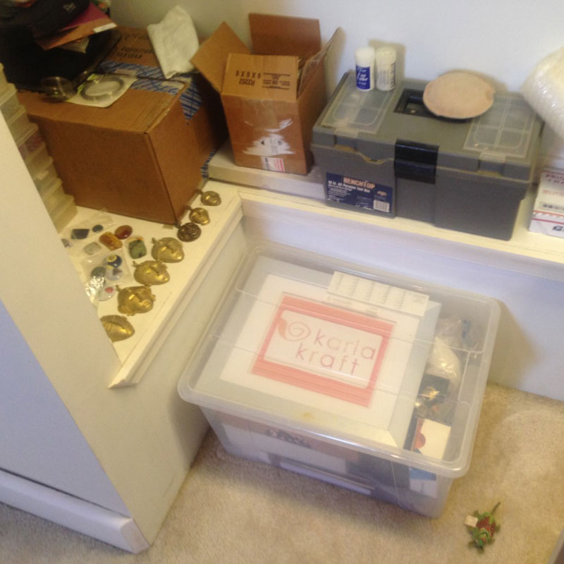 jewelry supplies: stash organization after