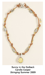 Candie Cooper String and Bead Necklace