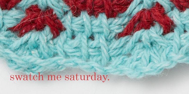 Swatch Me Saturday #1: Stitch Pattern Gauge Swatch