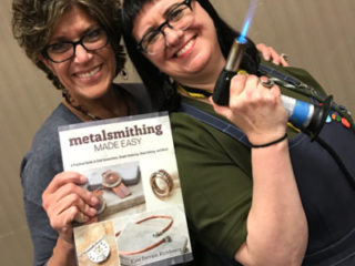 Kate Richbourg and Tammy Honaman are on FIRE at the Tucson Gem Show. January 2017