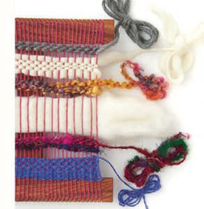 Any yarn can make a statement in free-form tapestry.