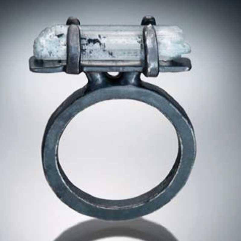 Veteran and jewelry designer Tara Hutchinson aqua ring