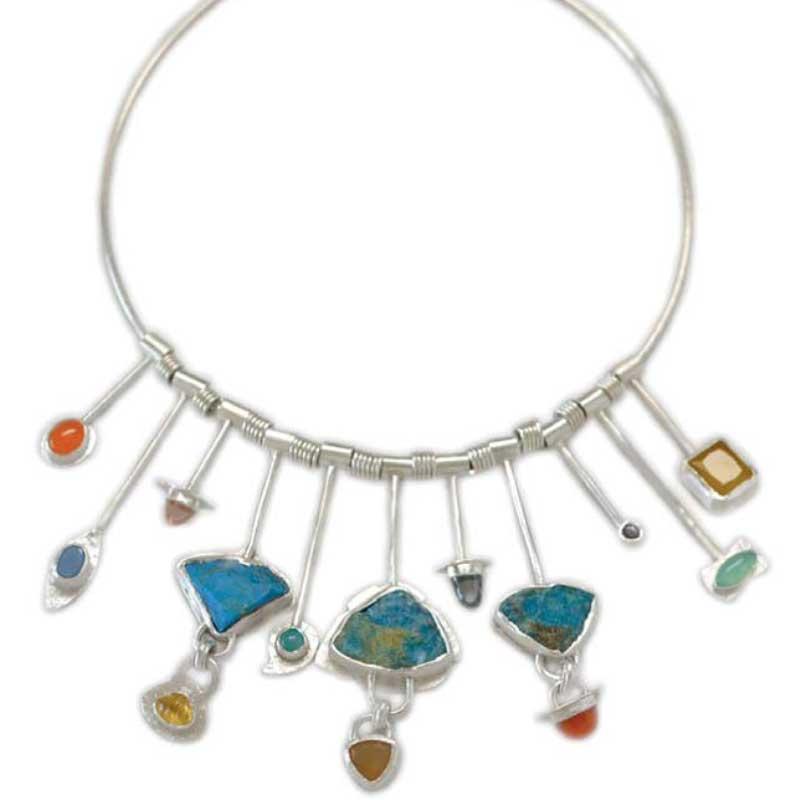 Veteran and jewelry designer Tara Hutchinson multi-gemstone necklace