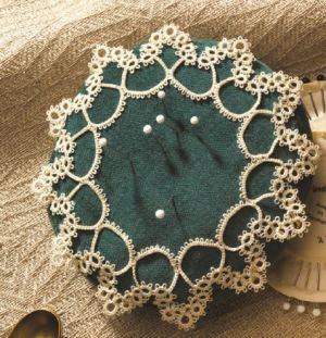 tatted pincushion