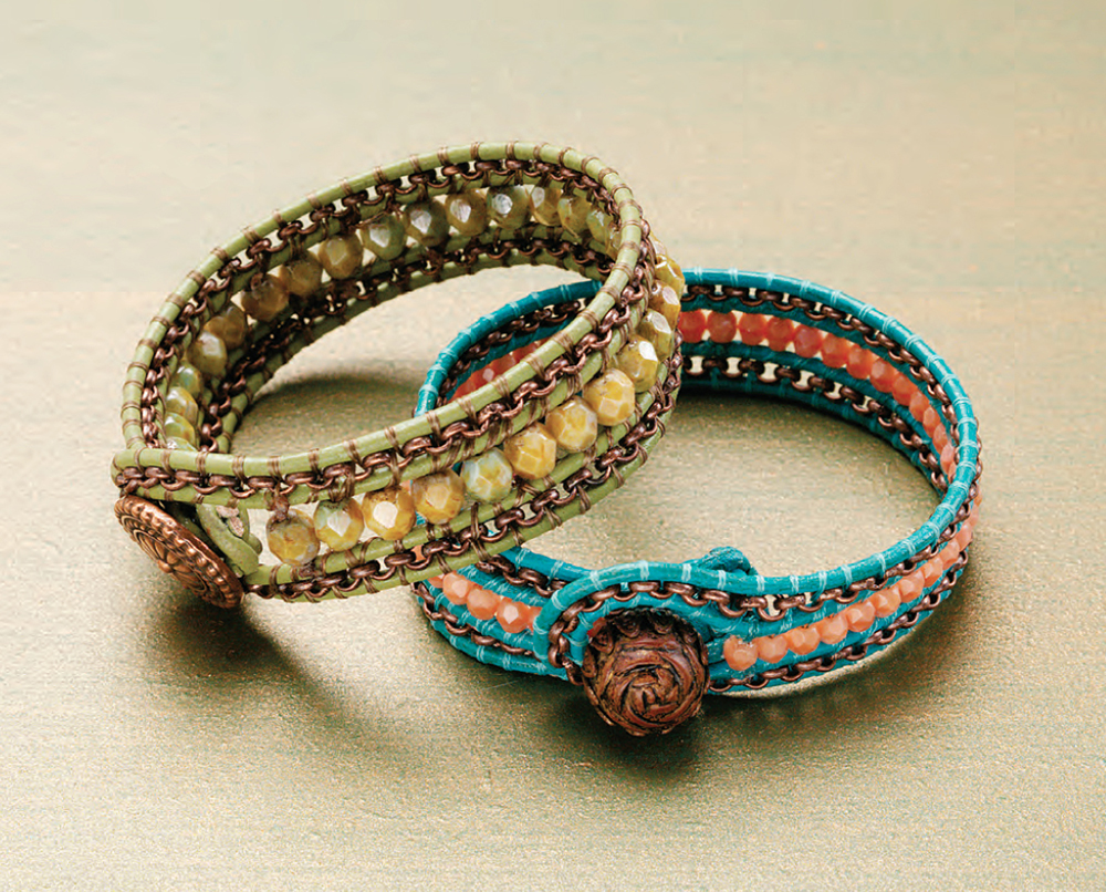 Terra Haute Wrap Bracelet By Arlene Kauffman Leather Jewelry Making Issue Beads And