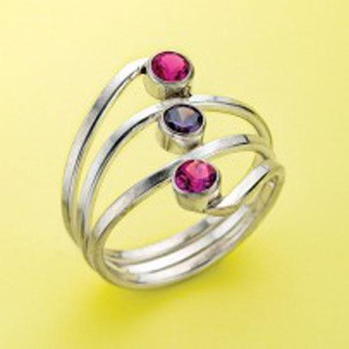 ring making: Eva Sherman's Three Stone Ring at Bead Fest