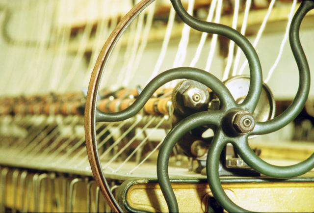 Throstle spinner detail