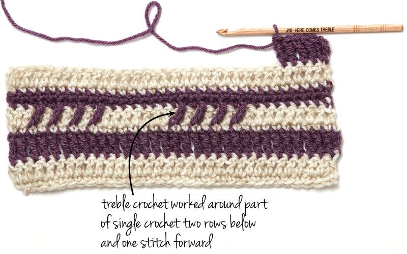 Hook learn how to treble crochet interweave hook learn how to treble crochet ccuart Image collections