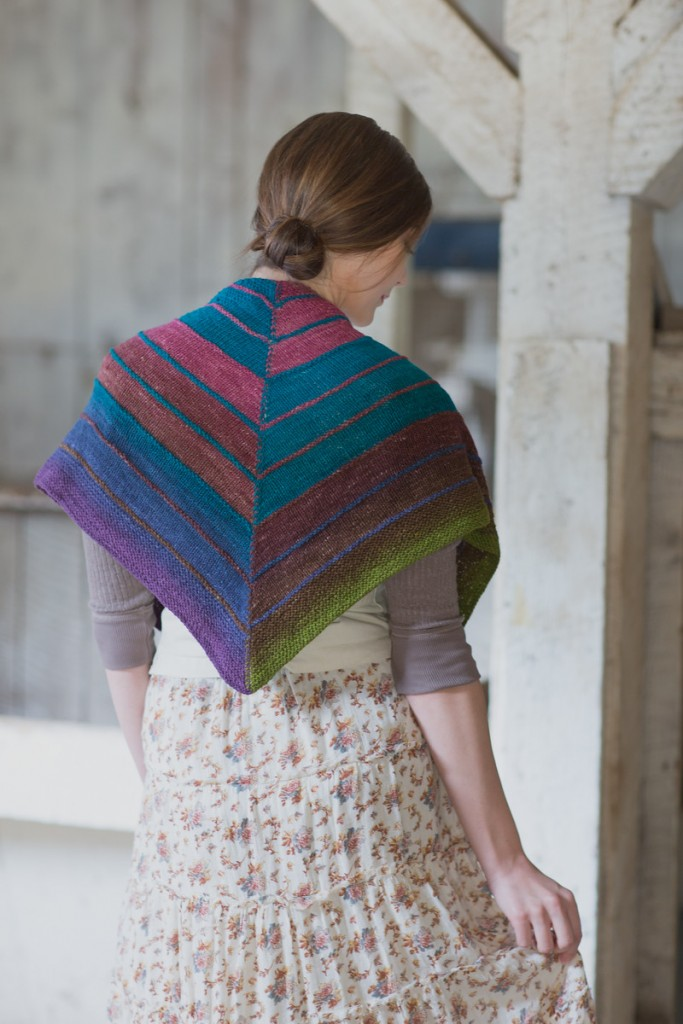 The Trigonometry Shawl is  included with the  video Knitting with Ombre and Gradient Yarns