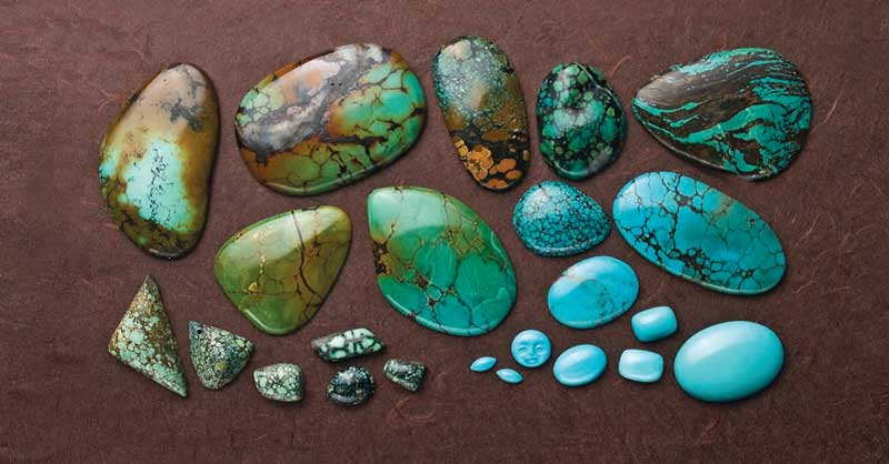 Gemstones and Birthstones - Turquoise - the amazing blue stone of many shades.
