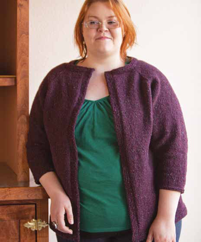 You'll love knitting this Tweed cardigan in this FREE eBook that contains 7 sweater knitting patterns.