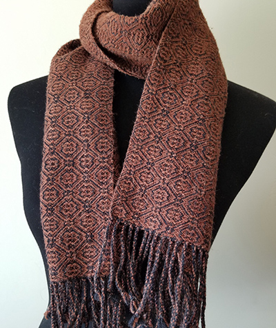 Twill scarf without a tie-up error. Credit:  Susan E. Horton