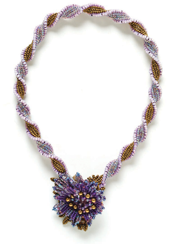 You'll love beading this twisted herringbone stitch necklace.
