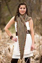 typha scarf Knit Pattern