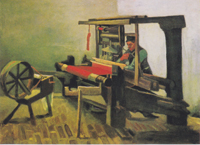 "van Gogh's ""Weaver Facing Left with Spinning Wheel"""