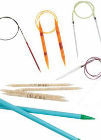 Learn about the variety of knitting needles including knitting needle sizes, tips and knitting needle shapes in this free guide.