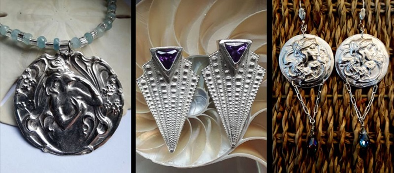 Vintage Elegance metal clay jewelry by Sulie Girardi