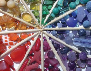 Read these 4 tips for working with vivid colors in your jewelry design.