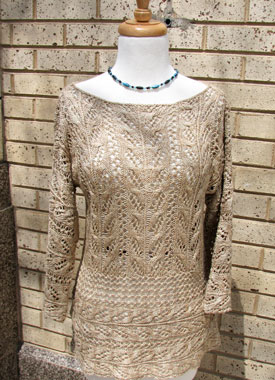 Knitting Gallery - Wakame Lace Tunic Bertha