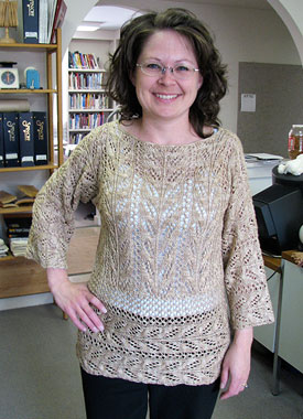 Knitting Gallery - Wakame Lace Tunic Debbie