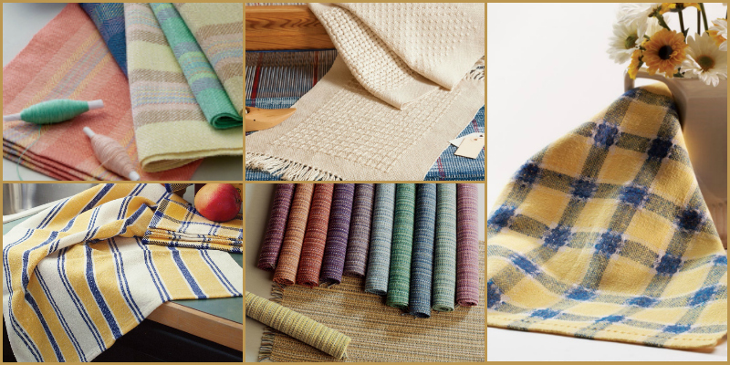 5 Fun (And Free) Weaving Projects: Handwoven Towels and Placemats