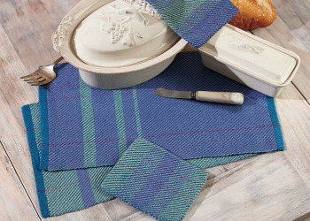 Weaving with cotton allows you to make very utilitarian weaving projects, like these cotton woven mats.