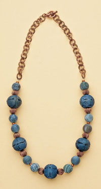 Bluish necklace by Jane Dickerson