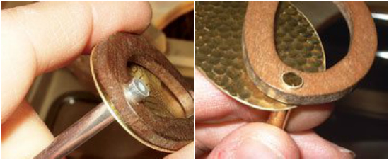 These two photos show a well-fitted tube rivet, one with thick walled stock and one with thin walled stock. You should have to coax the tubing into the hole with a little bit of muscle–if the hole is too big, eventually the rivet will fail.