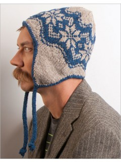 Begin with the earflaps of the Whitman Cap and work your way through Fair Isle snowflakes to reach the crown shaping.