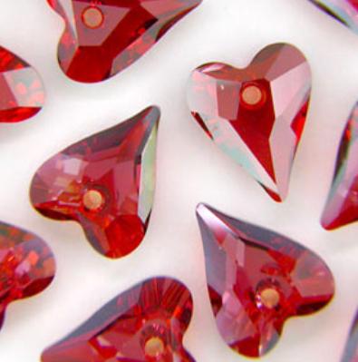 Swarovski crystal Wild heart pendant