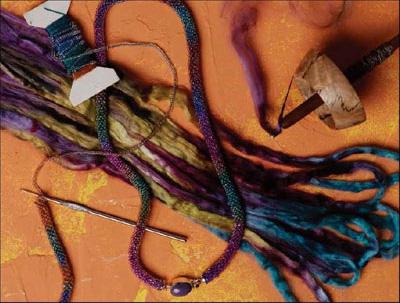 homemade silk yarn
