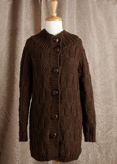 Knitting Gallery -Windowpane Coat  Bertha