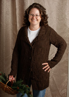 Knitting Gallery -Windowpane Coat  Debbie