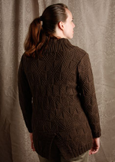 Knitting Gallery -Windowpane Coat  erin