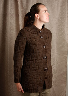 Knitting Gallery -Windowpane Coat  erin
