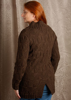 Knitting Gallery -Windowpane Coat  Kat
