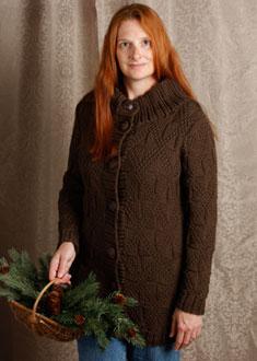 Knitting Gallery -Windowpane Coat  Kat