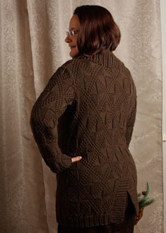 Knitting Gallery -Windowpane Coat  Sandi