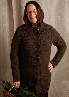 Knitting Gallery -Windowpane Coat  Sanid