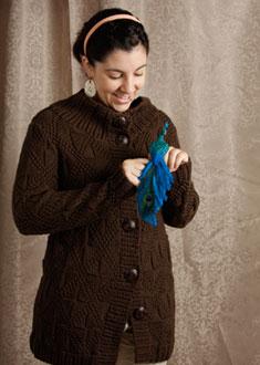 Knitting Gallery -Windowpane Coat  Stef