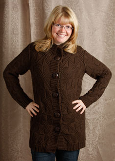 Knitting Gallery - Little Blue Sweater Sandi