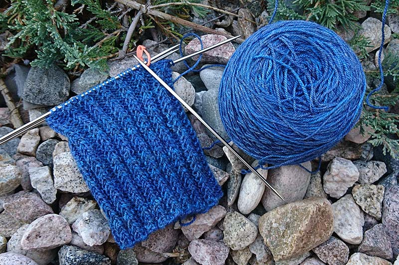 Work in Progress shot of Thames Path Socks by Lisa Jacobs